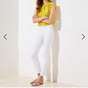 Slim Pocket Skinny Crop Jeans In White